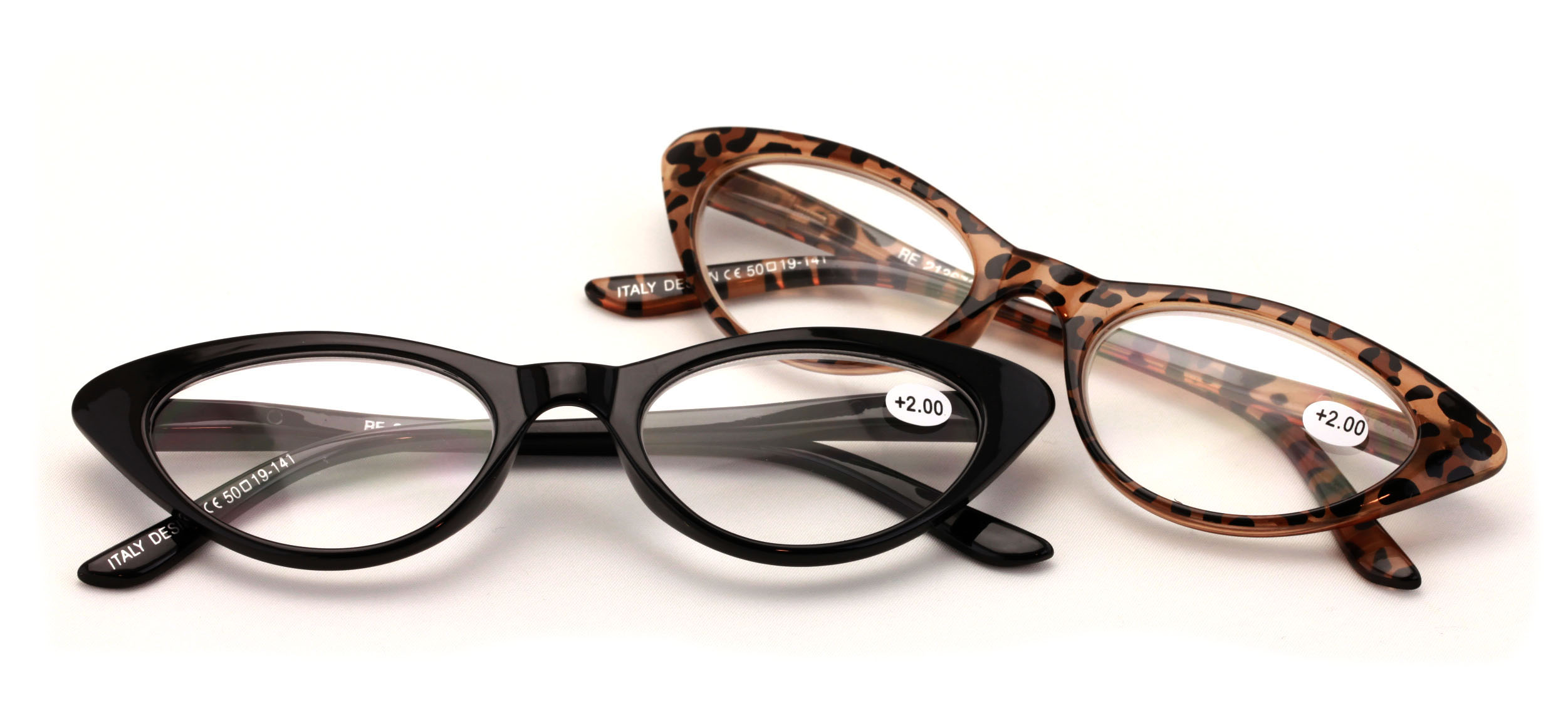 6455ca6f52 V.W.E. 2 Pairs Deluxe Female Cateye Vintage Reading Glasses Women Readers -  Walmart.com