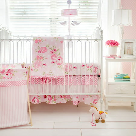 Rosebud Lane 3 Piece Crib Bedding Set by My Baby Sam ()