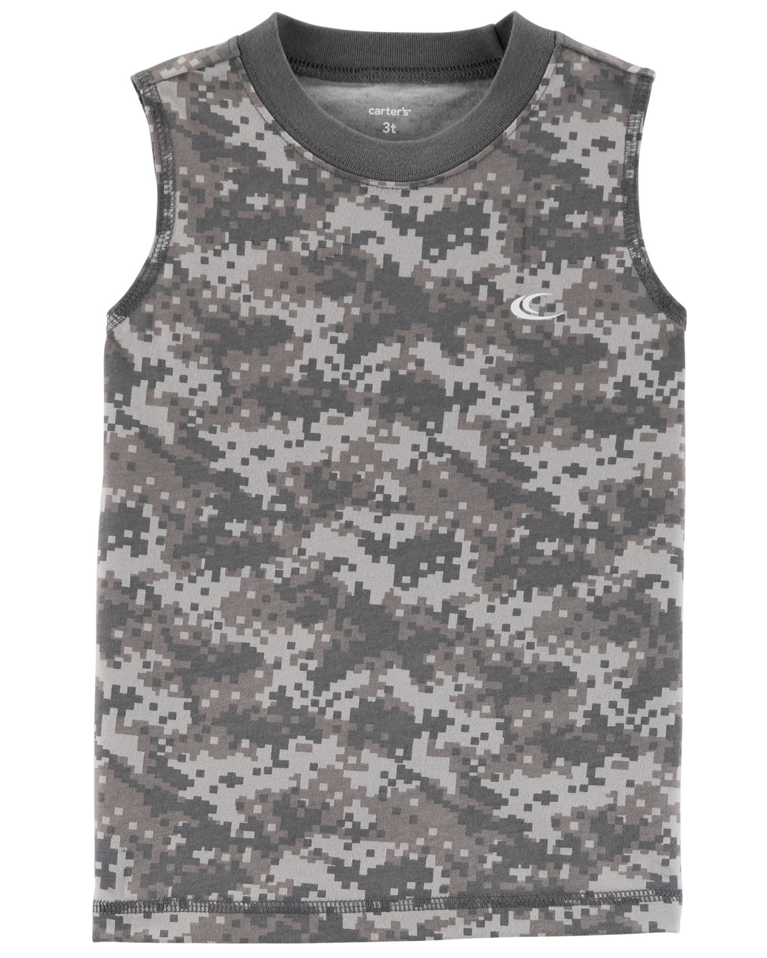 Carter's Little Boys' Pixel Camo Jersey Tank