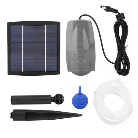 Tbest Air Stone Oxygen Aerator Solar Powered Pond Oxygenator Water Pump Garden, Solar Powered Water Pump, Water Pump