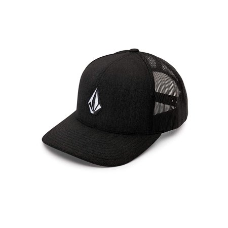 Men's Full Stone Cheese Hat, New Black, One Size, 60% Cotton/ 40% Polyester By (Volcom Skull Stone)