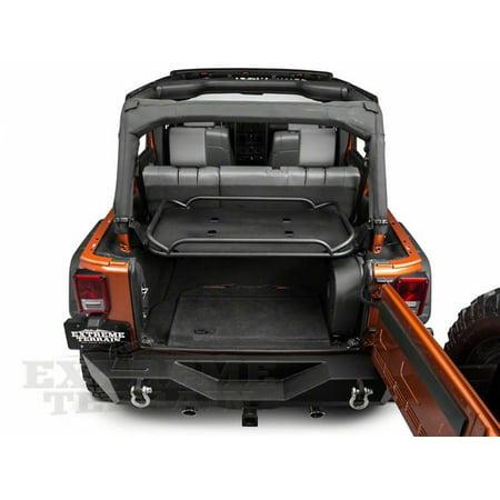 Rampage 2007 2014 Jeep Wrangler Jk Unlimited Rear Sport Rack Revised