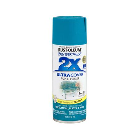 Rust-Oleum 257461 Painters Touch 2X Spray Paint, Satin Lagoon, 12-oz.