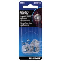 Hillman Fasteners 122264 Upholstery Twist Pins, 16-Pack