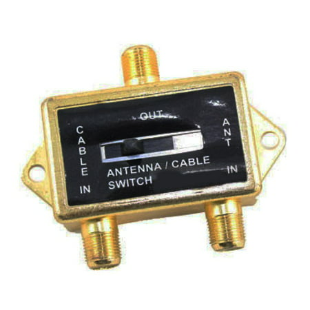 VIDEO COAXIAL A/B SWITCH ANTENNA / CABLE / CATV / LCD TV GOLD - Ht Runner 5 Coaxial Cable