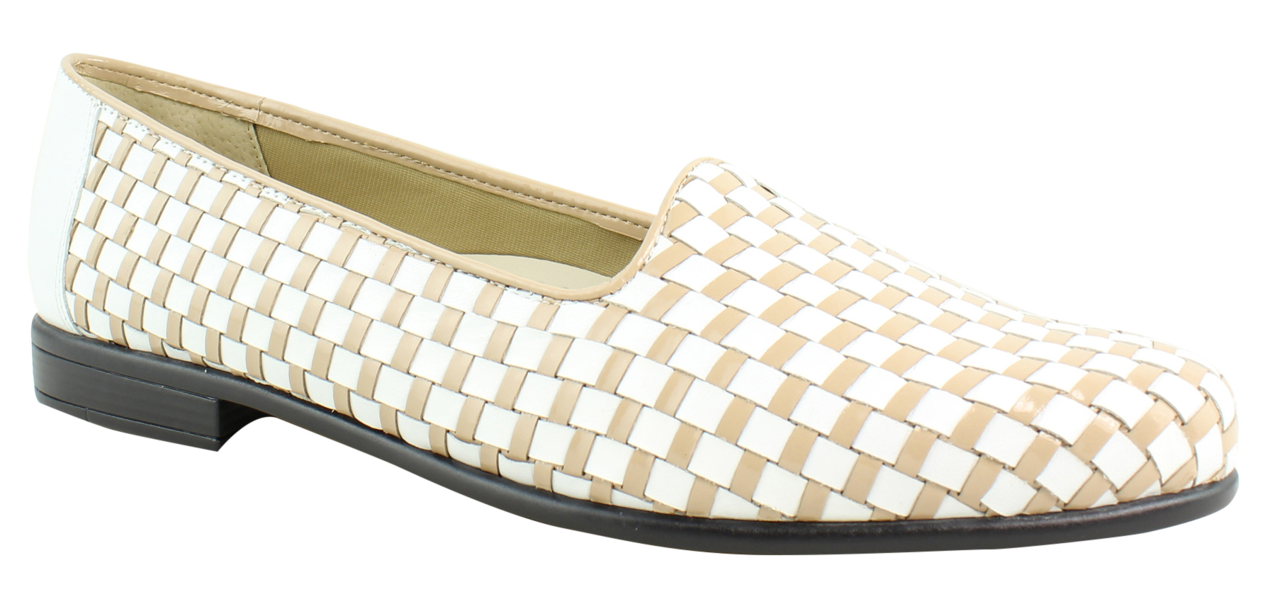 New Trotters Womens T5158-113 White Nude Loafers Size 9 (AA,N) by Trotters