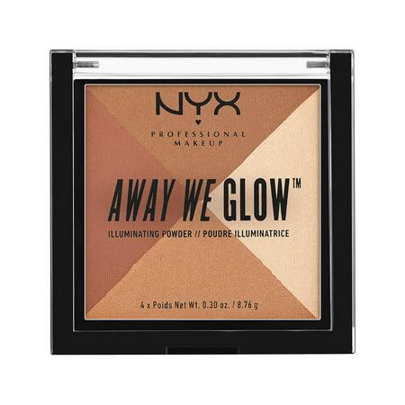 NYX Professional Makeup Away We Glow Illuminating Powder, Shimmer Thrill