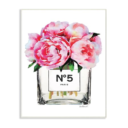 The Stupell Home Decor Collection Glam Paris Vase with Pink Peony Wall Plaque Art ()