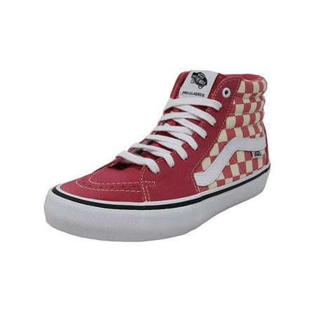9a2042c442f Vans VN-0VHGU22  Men s SK8-Hi Pro Checkerboard Desert Rose Sneaker (8.5  D(M) US Men)