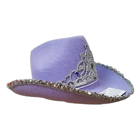 Cowgirl Rodeo Queen Cowboy Hat Silver Sequin Tiara Adult Costume Accessory  - Walmart.com 6be0a0f00c24