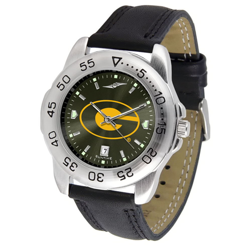 "Grambling State Tigers NCAA AnoChrome ""Sport"" Mens Watch (Leather Band)"