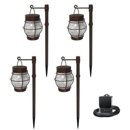 Malibu Daybreak 4PK LED Pathway Light Kit Landscape Lighting  Walmart.com