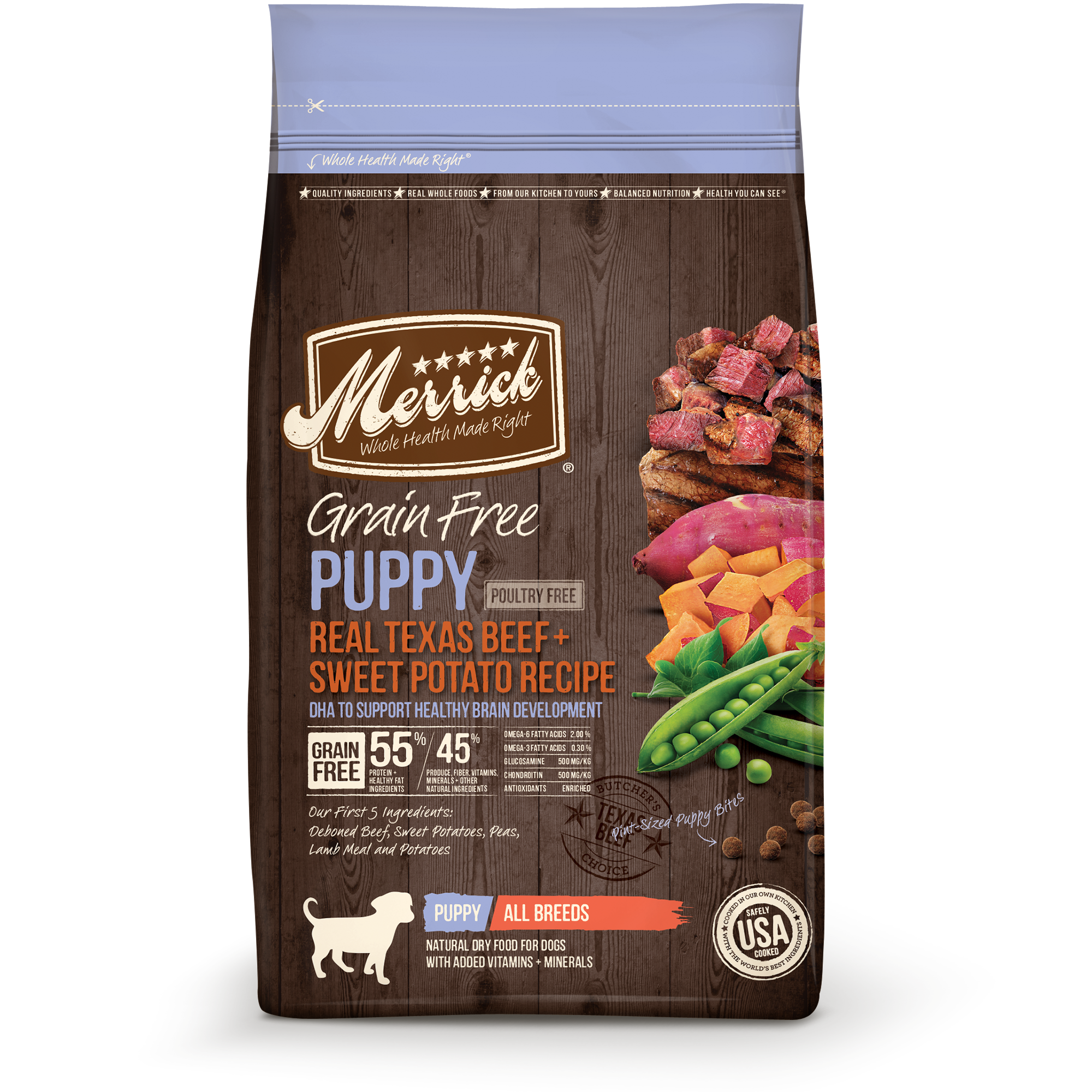 Merrick Grain-Free Real Beef & Sweet Potato Recipe Puppy Dry Dog Food, 25 Lb