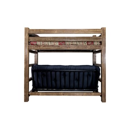 Loon Peak Aida Bunk Bed 44 Cotton Twin Futon Mattress Walmart Com