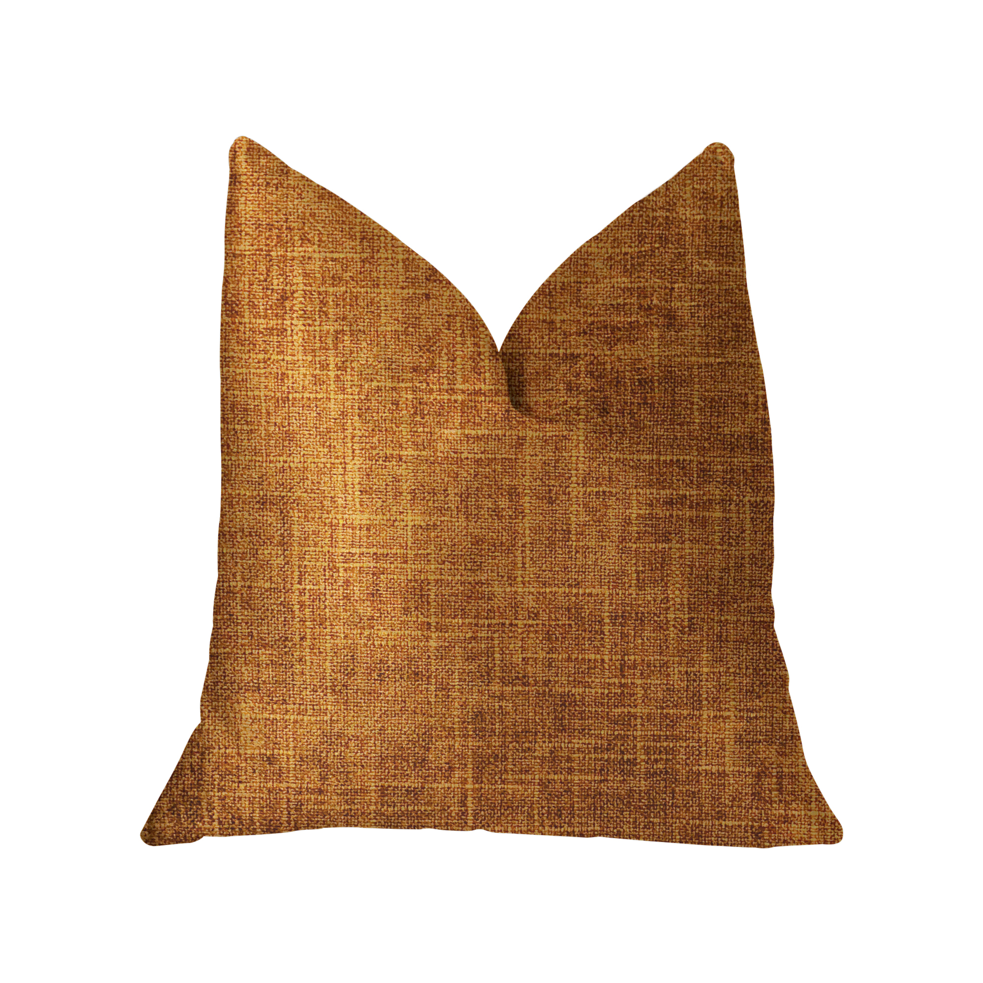Plutus Marmalade Brown and Gold Luxury Throw Pillow