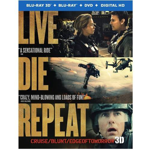 Live Die Repeat: Edge Of Tomorrow (3D Blu-ray + Blu-ray + DVD + Digital HD With UltraViolet)