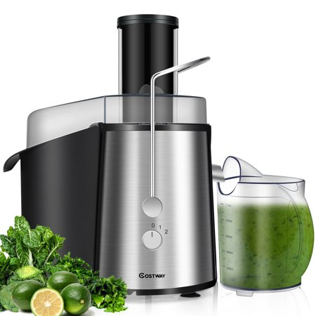 Costway Electric Juicer Wide Mouth Fruit & Vegetable Centrifugal Juice Extractor 2 Speed ()