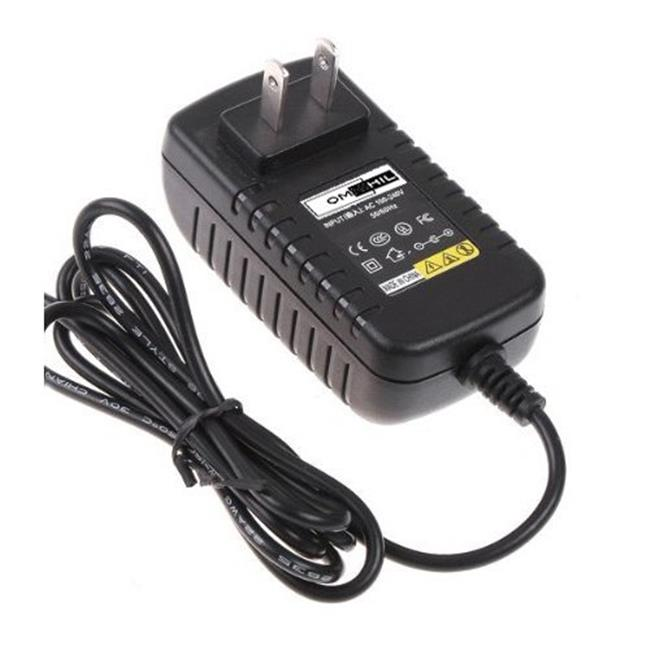 OMNIHIL OMNI0000157 Ac Dc Wall Charger - Sylvania 7, 9, 10 inch Portable Dvd Player 12V Power Supply Sdvd8706