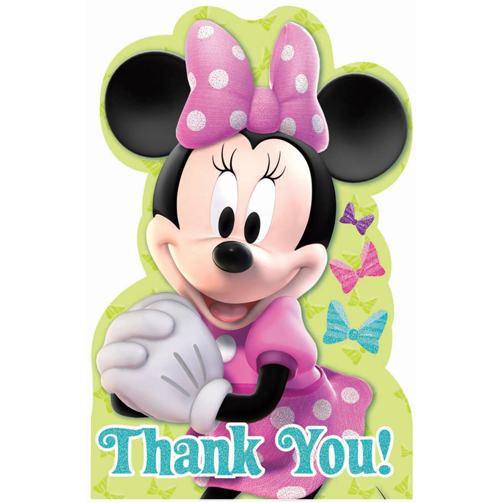 disney minnie mouse bowtique thank you notes walmart com