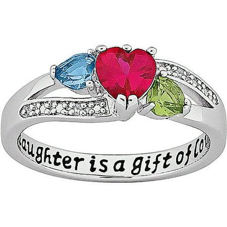 Gold ring for girls heart