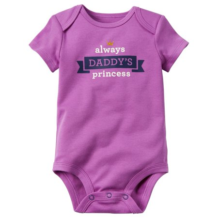 7cef9a332 Carter's - Carters Baby Clothing Outfit Girls Alway's Daddy's Princess  Collectible Bodysuit Purple - Walmart.com