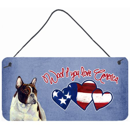 Woof if you love America French Bulldog Wall or Door Hanging Prints LH9522DS612