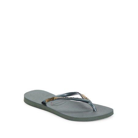 2a9d7d00d havaianas - havaianas slim metal mesh flip flop thong sandal ...