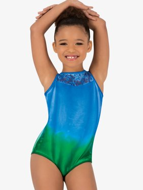 Girls Hand Painted Boat Neck Tank Leotard
