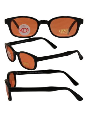 f613fa93b2 Product Image Pacific Coast Original KD s Biker Sunglasses (Black  Frame Orange Lens)