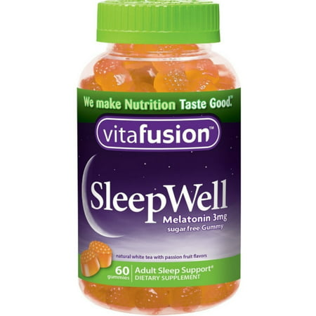 2 Pack - Vitafusion SleepWell Gummies White Tea with Passion Fruit 60 Each - White Gummy
