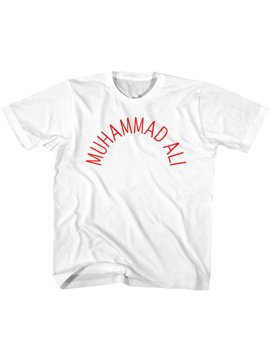 Muhammad Ali Arch Text White Toddler T-Shirt Tee