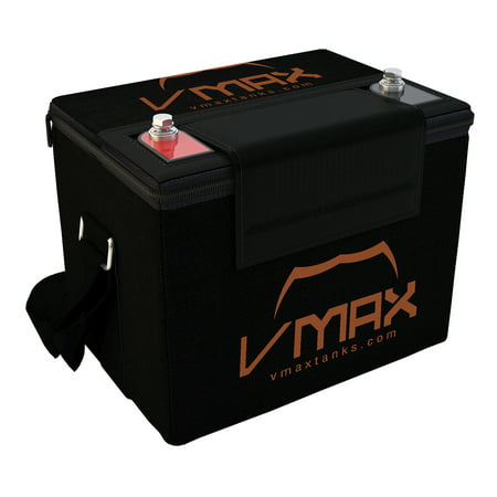 VMAX857 with U1 Carry Case AGM Deep Cycle Group U1 Battery Replacement for Everest & Jennings Traveler Spring 12V 35Ah Wheelchair Battery