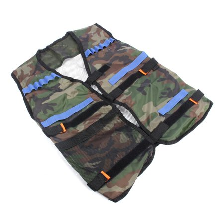 Yosoo Tactical Vest with Storage Pocket for Refill Gun Bullet for N-Strike Kids Toy Camouflage Tactical Vest (Kid Store Online)
