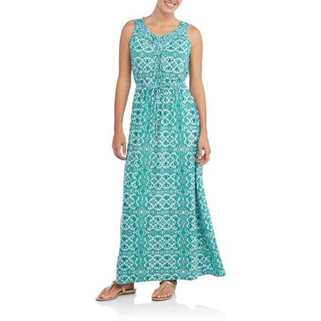 Faded Glory Women S Macrame Maxi Dress
