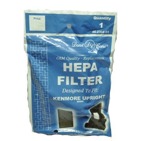 Kenmore Upright Vacuum Cleaner Hepa Filter, Dust Care Replacement Brand, designed to fit Kenmore Upright Vacuum Cleaner Model 86889, Panasonic MC-V199H #40324