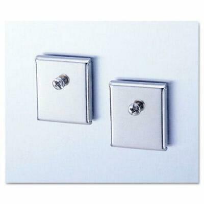 2PK Universal Cubicle Accessory Mounting Magnets, Silver, Set of 2 (Cubicle Accessory Mounting Magnets)