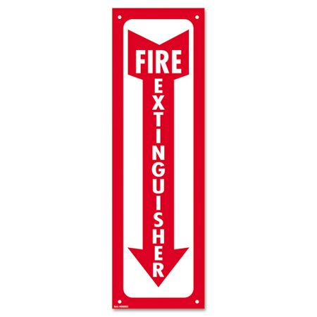 - Consolidated Stamp Fire Extinguisher Glow-In-The-Dark Sign in Red