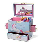 Musical Jewelry Box with 3 Drawers, Rainbow Unicorn Design, The Unicorn Tune