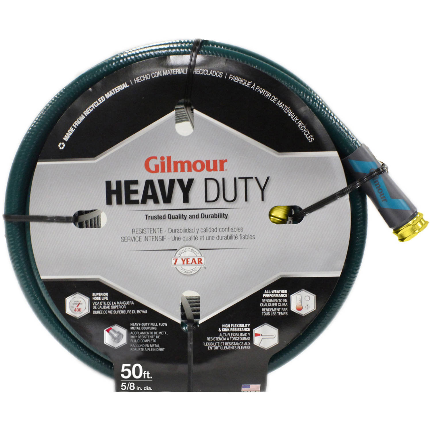 Gilmour 26058050 50' 5-Ply Heavy Duty Hose