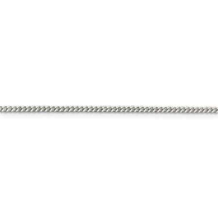 925 Sterling Silver 2mm Link Curb Necklace Chain Pendant Charm Flat Beveled Fine Jewelry Gifts For Women For Her - image 6 of 9