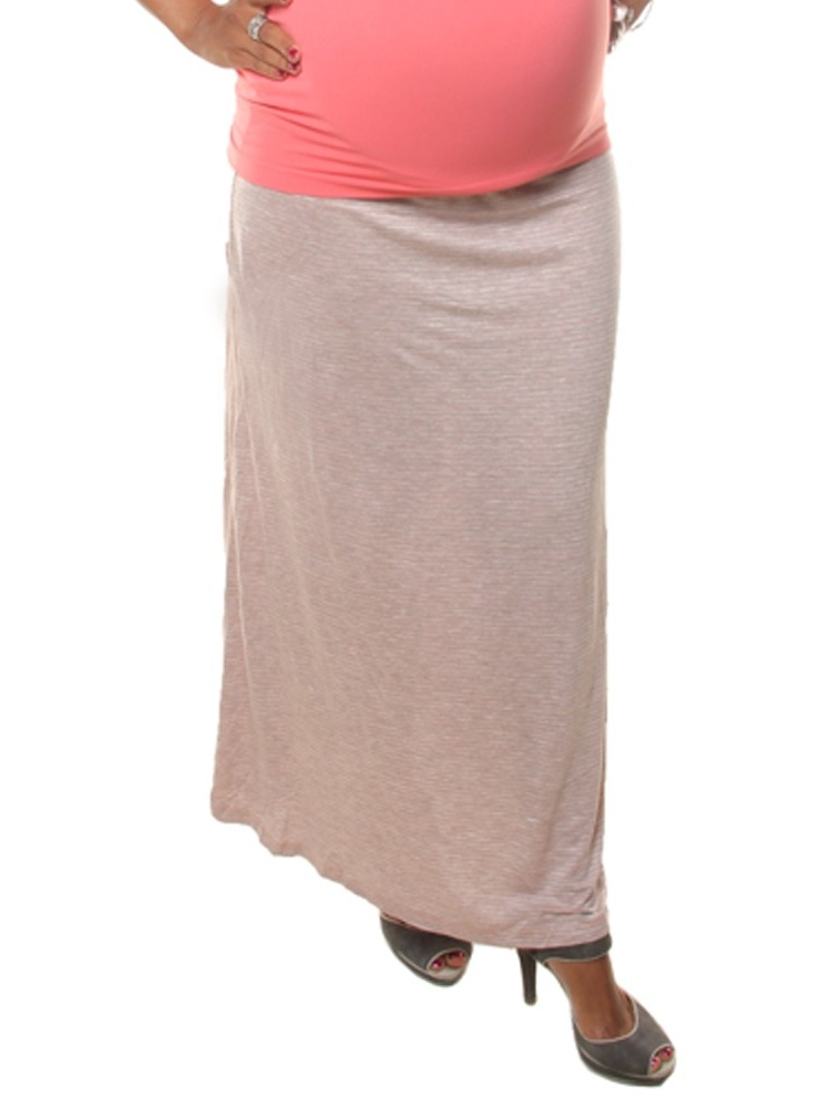 Love My Belly Women Cream Long Ankle Length Maternity Skirt by Love My Belly