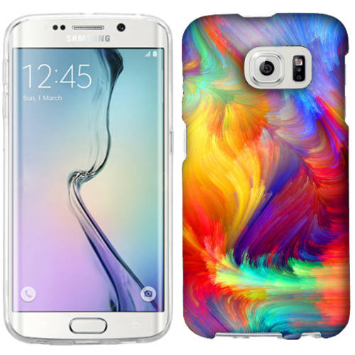 Mundaze Feather Paint Phone Case Cover for Samsung Galaxy S6 edge