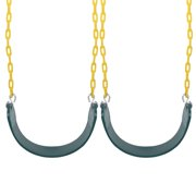 LHCER 2 Pack Durable Swings Seats Chain Playground Swing Set Accessories with Snap Hooks, Chain Swing Set, Swings Seats Chain
