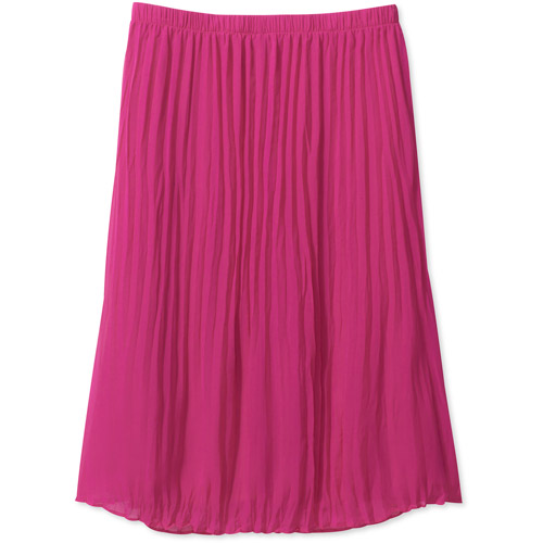 George Women's Plus-Size Pleated Georgette Maxi Skirt