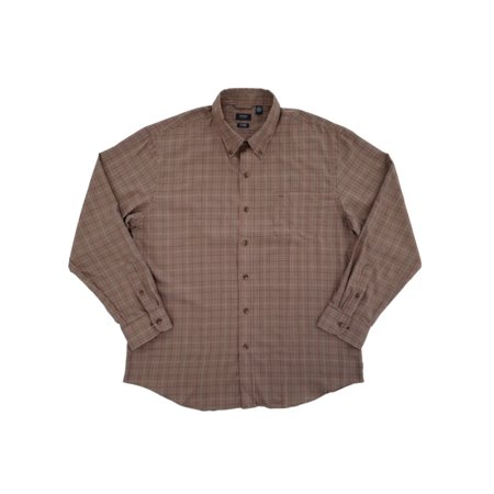Heritage Plaid Shirt - Mens Corazon Plaid Heritage Twill Button-Front Shirt  - Size - X-Large