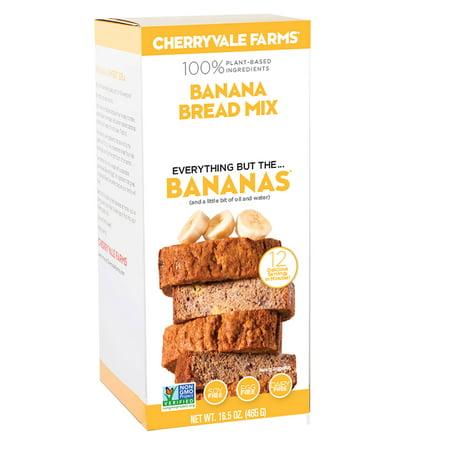 Kosher Bread Mix - Cherryvale Farms, Banana Bread Baking Mix, Everything But The Bananas, Non-GMO, Vegan, 16.5 oz