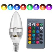 LXMADE 3W E12 E14 RGB LED Bulb Color Changing Candle Light Lamp Remote Control Bulb 16 Colors For Bar Party KTV Wedding