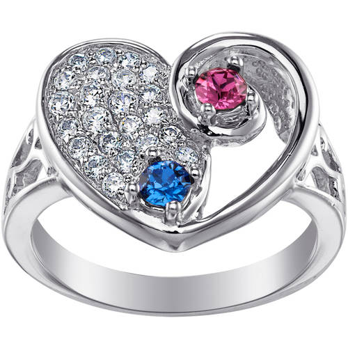 "Personalized Lasting Expressions by Deborah Birdoes Sterling Silver ""My Beloved"" Birthstone Ring"