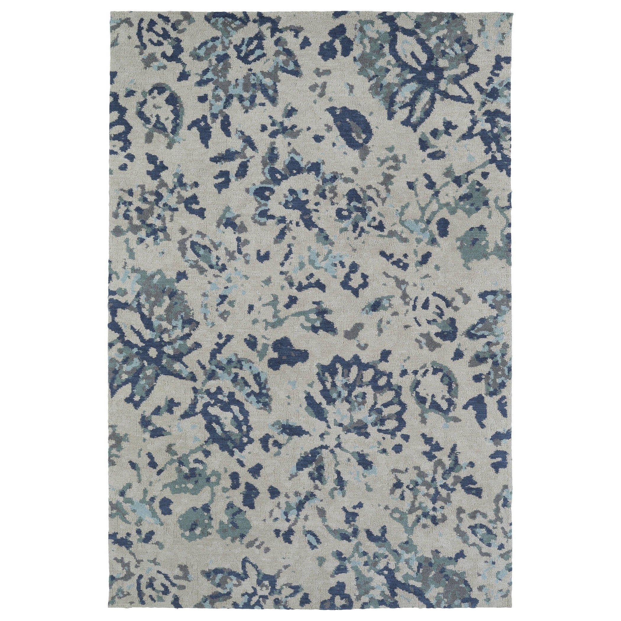 Kaleen Rugs Cozy Toes Collection CTC05-17 Blue Machine Tufted Rug, 9' x 12'