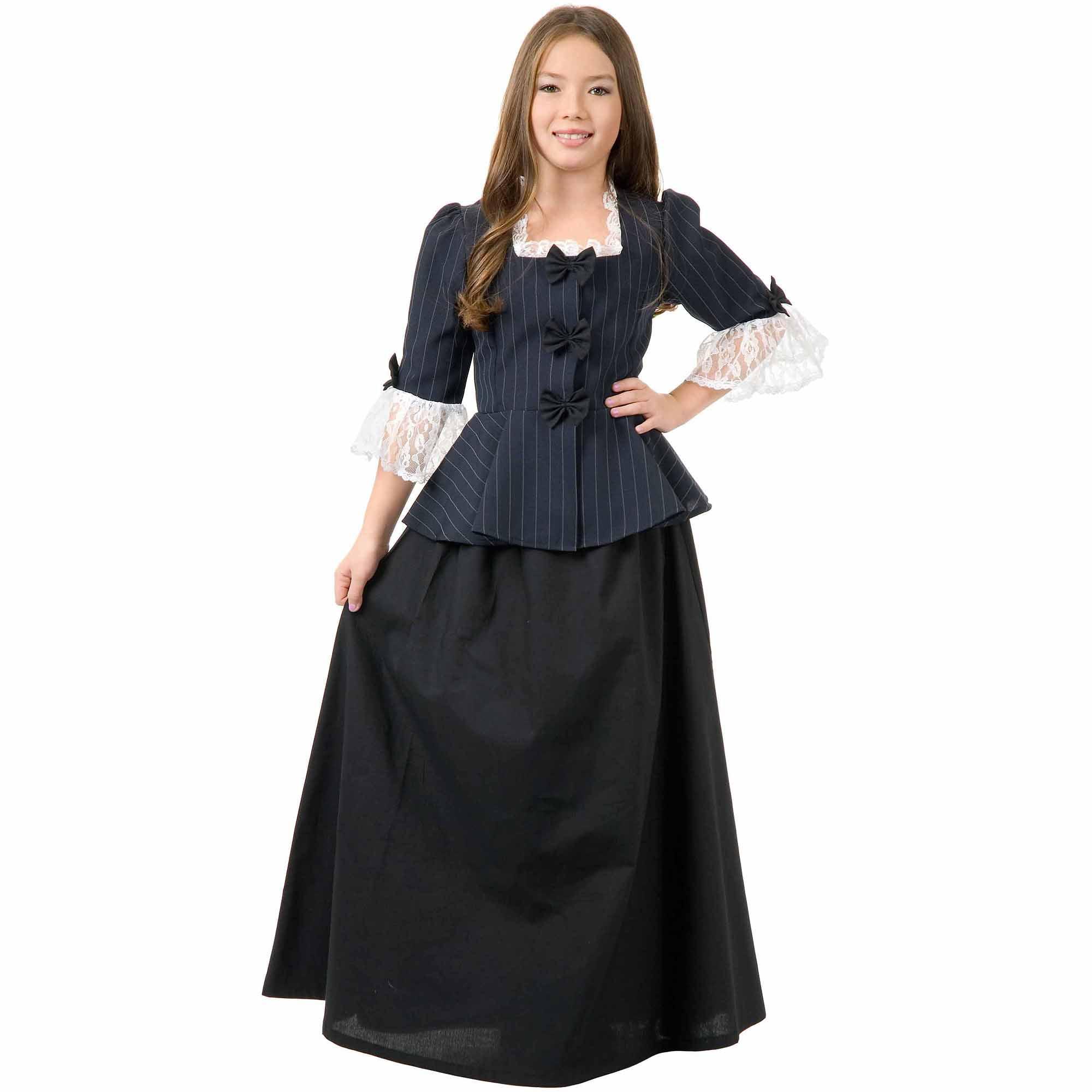 Colonial Girl Child Halloween Costume - Walmart.com
